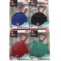 Großhandel JBL Clip 2 Wasserdicht Portable Bluetooth Lautsprecher Super Clear Mit Schwarz / Rot / Grau / Blau / Teal Verbindet Mit Zusätzlichen Clip 2 Lautsprecher