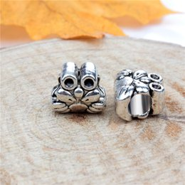 $enCountryForm.capitalKeyWord NZ - Fashion Charms Jewelry Findings And Components Cute Frog Alloy Loose Bead For Pandora Bracelet Bangle European Style