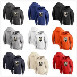 camp wear 2019 - Men's Vegas Golden Knights Fanatics Branded Black Ash White Red Orange embroidery Primary Logo Pullover Hoodies lon