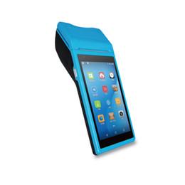Discount barcode reader android - S4 handheld mobile reader 2D thermal printer barcode scanner handheld terminal Rakinda Android PDA