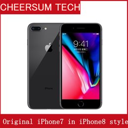 Iphone Accessories Battery NZ - Original LCD and battery iphone 7 in iphone 8 style Case Unlocked Mobile Phone with touch ID 3G RAM 32GB ROM Cellphone Refurbished