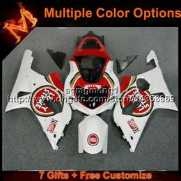 Discount gsxr fairing red white - 23colors+Gifts white red motorcycle fairing for Suzuki GSX-R1000 00 01 02 GSXR 1000 2000 2001 2002 Bodywork Set ABS Plas