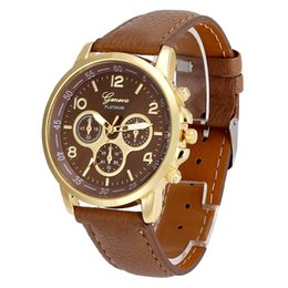 Really Dresses UK - Really Cheap Dress Casual Watch For Women Geneva Leather Analog Hour Quartz Wrist Watches Ladies Clock Montre Femme