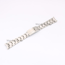 Chinese  CARLYWET 20mm 316L Stainless Steel Two Tone Gold Silver Solid Curved End Link Deployment Clasp Wrist Watch Band Strap Bracelet manufacturers