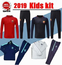 16d01ed2c03 2018 Kids Barcelona tracksuit Soccer Sets 18 19 youth VIDAL SUAREZ  O.DEMBELE Messi INIESTA PIQUE football Tracksuit training suit pants