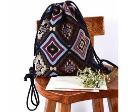 $enCountryForm.capitalKeyWord NZ - Bohemia Ethnic style Women Handbag Coon Travel Drawstring Bags Teenagers School BackpacHigh Quality Backpack For Travelling