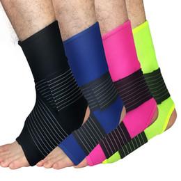Großhandel 1 Paar Knöchel Unterstützung Einstellbare Hohe Elastische Bandage Kompression Stricken Sport Beschützer Basketball Fußball Knöchelschutz Großhandel