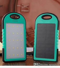 Laptop Cellphone NZ - Portable Solar Charger Power Bank Panel 6000mah For Moblie Phone CellPhone Smartphone 2 USB Ports Waterproof Outdoor Solar Battery