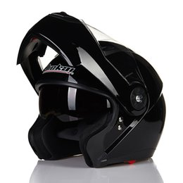 jiekai lens 2019 - Genuine JIEKAI 115 DOT certified double lens exposed helmet detachable lined male and female knight helmet cheap jiekai
