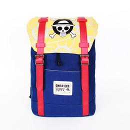 3924d5929da2 Fashion Anime One piece luffy canvas Backpack High Quality Unisex Cartoon  Bag Hot Sale Zipper Shoulder plush Backpack Bag
