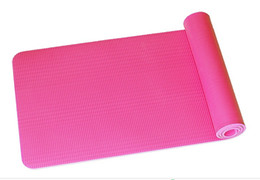 Padded Gym Mats UK - 10mm Thick 6 Color TPE Yoga Mat Non-Slip Body Building Health Lose Weight Exercise Gym Household Cushion for Fitness Pad