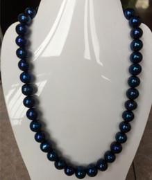 bfdf2bba0a82 8 Fotos Compra Online Perlas de tahiti-impresionante tahitiano redondo 10-11mm  negro azul perla collar