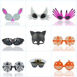 Discount kids sunglasses brand - Holiday Party Funny Sunglasses Cartoon Halloween With Various Styles Fashion Brand Design Glasses Christmas Kids Gift Ey