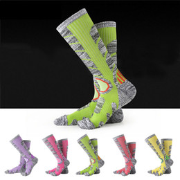 Pink sPorts wear for women online shopping - Ourdoor Sports Socks Thick Towel Bottom Socks For Women Men For Hiking Boarding Skiing Breathable Moisture Warm Wear resistant G490Q