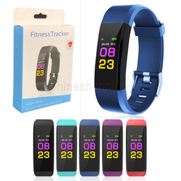New ID115 Plus Smart Wristband Bracelet Fitness Heart Rate Tracker Step Counter Activity Monitor Band Waterproof Wristband For IOS Android on Sale