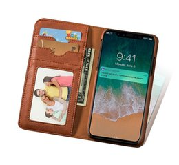 $enCountryForm.capitalKeyWord UK - New Arrival Creative Leather Cell Phone Case Rotation Wallet Flip Cover With Card Slots Bracket for iPhone X Samsung With Retail Package