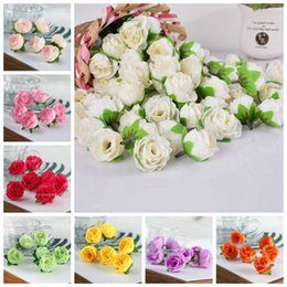 White Rose Crafts Australia - 50Pcs Artificial Silk Rose Flower Heads Bulk Craft Wedding Party Decoration Home Decor DIY House New YYY9366