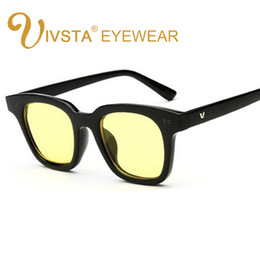 Chinese  IVSTA Korean Sunglasses Yellow lenses Sea Women 2018 Butterfly Style V Brand Designer party Men cool Jelly Color Candy manufacturers