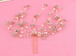 embellished jewelry Canada - European and American bride beaded hairpin embellished wedding bridal tiara wedding dress styling accessories
