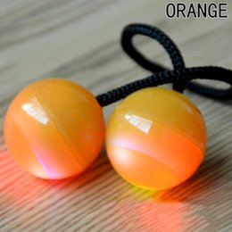 $enCountryForm.capitalKeyWord NZ - LED Light Up Finger YOYO Balls Toys Control Roll Knuckles Finger Luminous Anti Stress Toys
