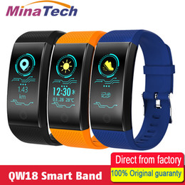 Bracelet Intelligent NZ - QW18 Smart Wristband Intelligent Sport Bracelet Fitness Sleep Tracker IP68 Pulse Watch Outdoor Smartband Relogio Cardiaco