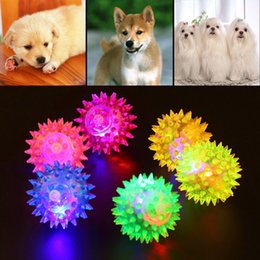 lighted dog ball 2019 - 1pc WholesalePet Dog Hedgehog Ball Teeth Chew Training Play Toy Light-up Doll with Battery