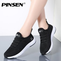 1ae25f8cf0d 2019 Casual PINSEN 2018 Women Sneakers High Quality Breathable Lace-Up  Lover Casual Shoes Woman Flats Shoes Basket Female tenis femininos