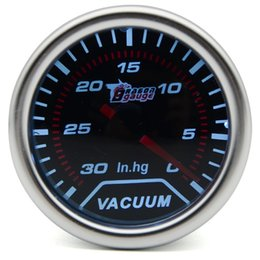 2 inch 52MM Universal Mechanical Vacuum Car Gauge 0-30 InHg Meter Auto White LED