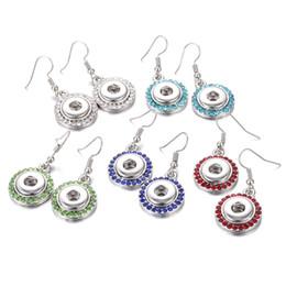 e88996c3d989 12 mm Noosa Snap Earrings joyería de Alta Calidad de Flores Aretes de  Cristal Mini Botón Pendiente para las mujeres