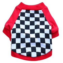 t sport racing UK - Christmas Hallowee Gift Dog Clothes Cheap Cute Dog Apparel Racing Suits Dog Cothing Sports Clothing for Dogs Cartoon Pet t-shirt Teddy