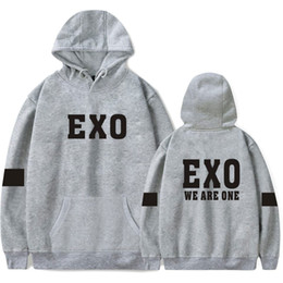 Exo fashion online shopping - Lovers Hooded Pullover Sweatshirts Mens Women Casual Fashion Sweaters Winter Autumn Hoodie EXO Printed Streetwear Hoodies Top XS XL