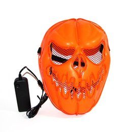 $enCountryForm.capitalKeyWord UK - Halloween Pumpkin EL Wire Mask Flashing Cosplay LED Mask Costume Anonymous Mask For Glowing Dance Carnival Party Masks