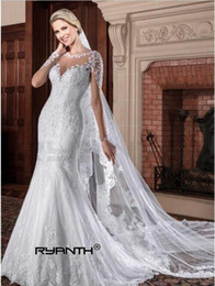 sexy see through dresses pictures NZ - 2018 New Arrival Beach Long Sleeves Lace Mermaid Wedding Dress Sexy See Through Back Pearls Wedding Gowns Custom Made Bridal Gown