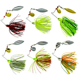 metal jigging lures NZ - Soft Spinnerbaits Spoons Fishing lures New Double Pieces Spinners fishing lures 15-19G 6 colors 4.6CM 2.4CM Jig Head Metal Spoon Lures
