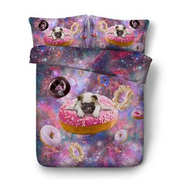 duvet sets peacock NZ - 3D galaxy dog duvet Cover sets bedding set Bedspread Holiday Quilt Covers Bed Linen children kids peacock sheep comforter cover pillow shams