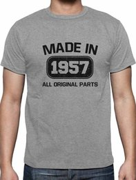Green Gifts Ideas Canada - Funny Shirts Men'S O-Neck Made In 1957 60Th Birthday Gift Idea Short Sleeve Fashion 2018 Tees