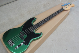 bass guitars sales 2019 - Hot sale! Metallic Green Electric Bass Guitar with Black Pickguard,Rosewood Fretboard,4 Strings,20 Frets,offer customize