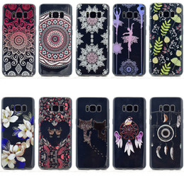Iphone sIlIcone art cases online shopping - For Samsung Galaxy S8 Plus A520 A320 J720 J520 J320 Ultra Thin Clear Art Patterns Crystal TPU Rubber Flexible Slim Case For iPhone Plus