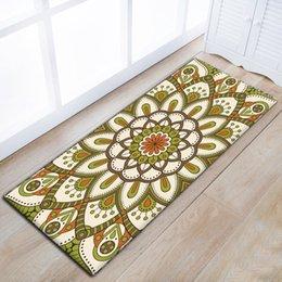 Home & Garden Waterproof Floor Door Mats Flannel Mandala Lotus Floral Rugs Anti-slip 40*60cm Bedroom Bedside Foot Pads Carpet In The Hallway