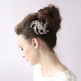 crystal twigs NZ - Twigs & Honey Wedding Headpieces Hair Accessories Bridal Hair Comb With Pearls Crystals Women Hair Jewelry Bridal Headwear BW-HP028