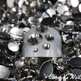 $enCountryForm.capitalKeyWord Australia - 5 Sizes Black Diamond Gray Color 5000 Pcs Bag Nail Art Tips Crystal Glitter Rhinestones 3D Nail Art Decoration