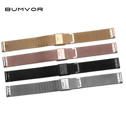 $enCountryForm.capitalKeyWord UK - Black Silver Gold Rose Gold ultra-thin Stainless Steel milan Mesh Strap Bracelets Watch Band 14 16 18 20 22 24