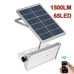 Microwave radar sensor online shopping - Solar FloodLight LED W W Microwave Radar Sensor Flood Lights Solar Courtyard Lighting With Rremote Control Outdoor Street Lamp