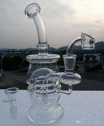 Wholesale Newest glass recycler Bong Oil Rigs Glass Design Eggosphere combo of ball rig water pipe with quartz banger