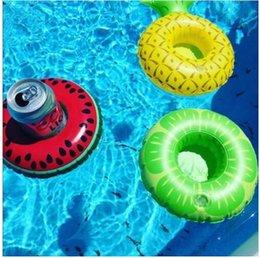 Партия поставки Flamigo держатель чашки арбуз надувной напиток плавающей партии напитков лодки телефон стенд держатель бассейн игрушки DHL Бесплатная доставка