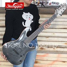China Top quality factory custom MAYONES guitar flamed maple top 7 strings guitar with reosewood fingerboard electric guitars custom shop suppliers