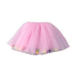a708744976 Fashion Princess Party Dance Skirts Candy Color Baby Girls Clothing with  Pom Summer Baby Girls Tutu Skirt 2018 New Style Hot Sales