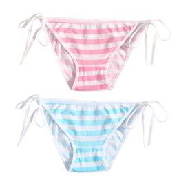 70278e4c0b Cute pink underwear online shopping - Stripe Bandage Panties Cotton  Harajuku Cute Sexy Hatsune Miku Underwear
