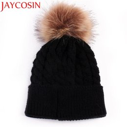 Kids Winter Beanies Australia - Skullies Beanies Newborn Cute Winter Kids Baby Hats Knitted Pom Pom Hat Wool Hemming Hat Drop Shipping High Quality S30 Y18110503