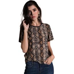 03c744e340e8e5 Snake Skin Tops Canada - 2018 New Fashion Snake Skin T-shirts Female Women  Leopard